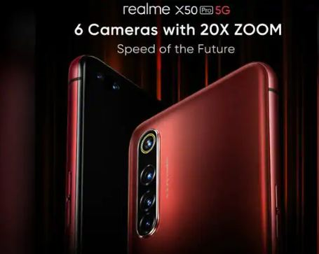 Reveal some details of Realme X50 Pro front and back camera