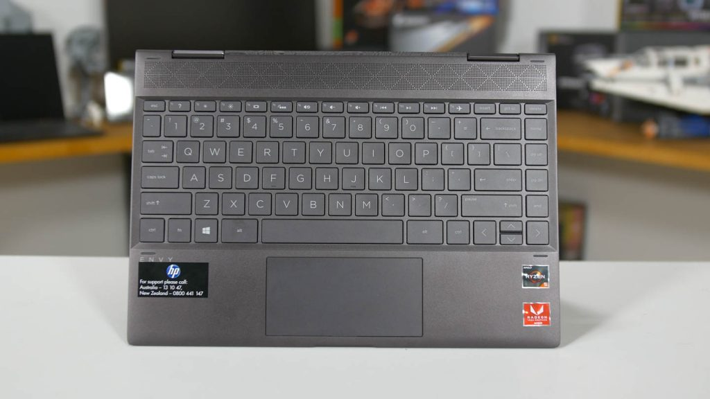 hp envy x360 keyboard and touchpad