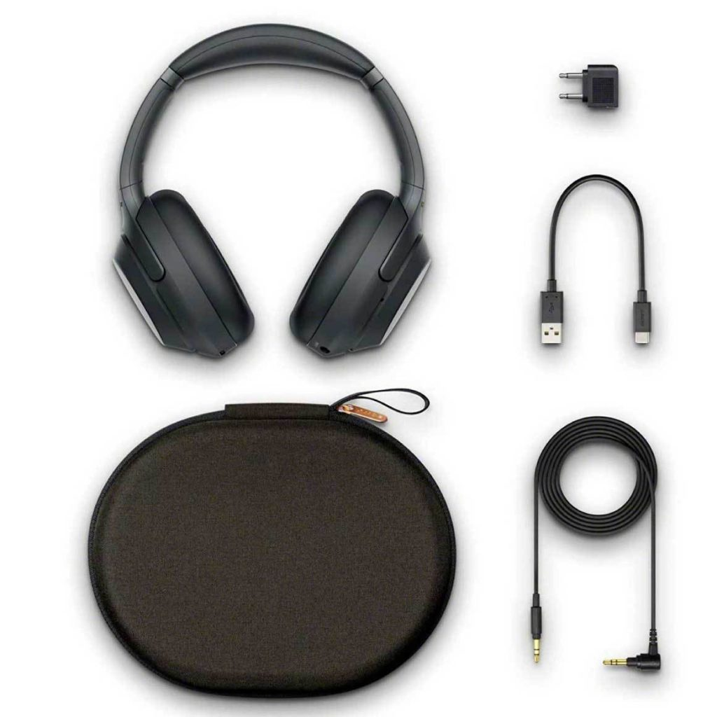 Sony WH-1000XM3 Accessories and Charger