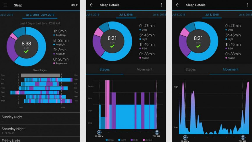 garmin venu Sleep Tracking now you Can track your bedtime
