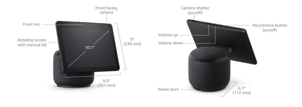 Amazon Echo Show 10 Ports and buttons