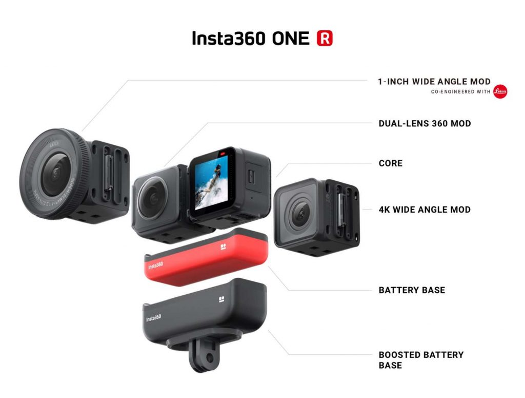Insta360 One R 1-inch buttons and ports