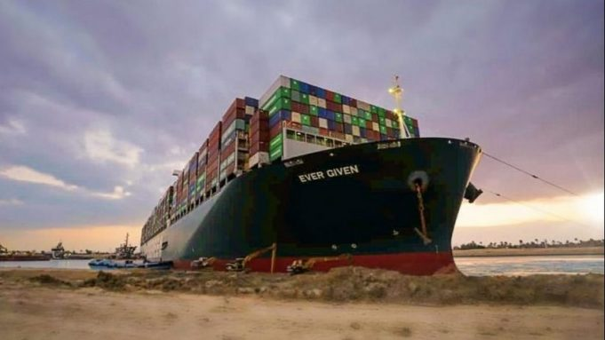 The stranded ship has taken a destination inside Microsoft Flight Simulator in the Suez Canal