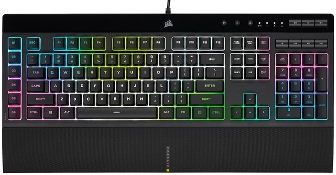 Corsair K55 RGB Pro XT Gaming Keyboard design